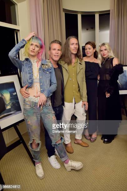 Danke Scott Lipps Brandon Boyd Jen DiSisto and Natalie Bergman attend Diesel Presents Scott Lipps Photography Exhibition 'Rocks Not Dead' at Sunset...