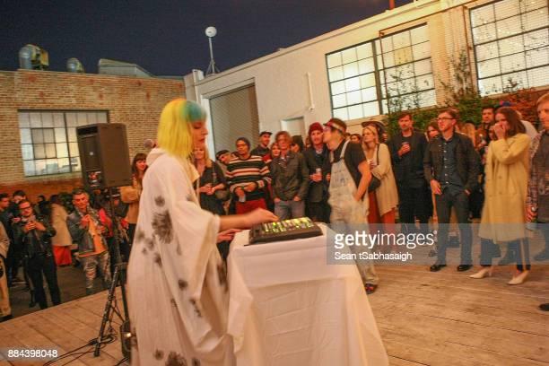 Danke Sound performs at OptiMystic A Brandon Boyd Pop Up Gallery Featuring He Tasya Van Ree Natalie Bergman Diana Garcia And DJ Set By Brent...