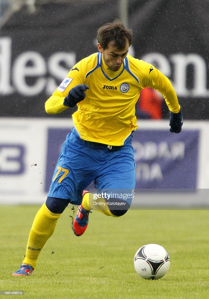 Danko Lazovic of FC Rostov Rostov-on-Don in action during the Russian Premier League match between FC Dynamo Moscow and FC Rostov Rostov-on-Don at the Arena Khimki Stadium on March 30, 2013 in Khimki, Russia.