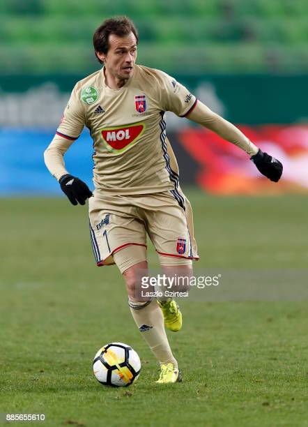 Danko Lazovic of Videoton FC controls the ball during the Hungarian OTP Bank Liga match between Ferencvarosi TC and Videoton FC at Groupama Arena on...