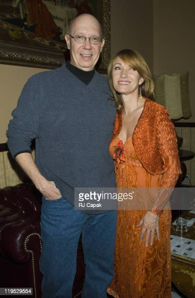 Dann Florek and Jane Seymour during Celebrity Mask Exhibition at The Cutting Room in New York City NY United States