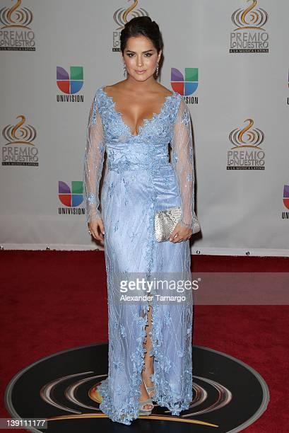 Danna Garcia arrives at Univision's Premio Lo Nuestro a La Musica Latina at American Airlines Arena on February 16 2012 in Miami Florida