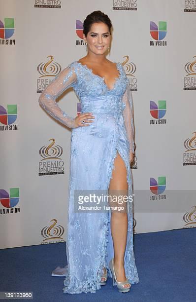 Danna Garcia poses backstage at Univision's Premio Lo Nuestro a La Musica Latina at American Airlines Arena on February 16 2012 in Miami Florida