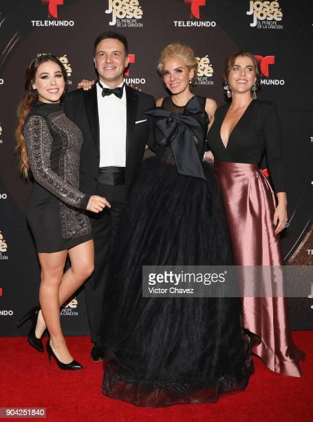 "Danna Paola, Alejandro de la Madrid, Malillany Marin and Maria Fernanda Yepes attend the ""Jose Jose El Principe De La Cancion"" Telemundo tv series..."