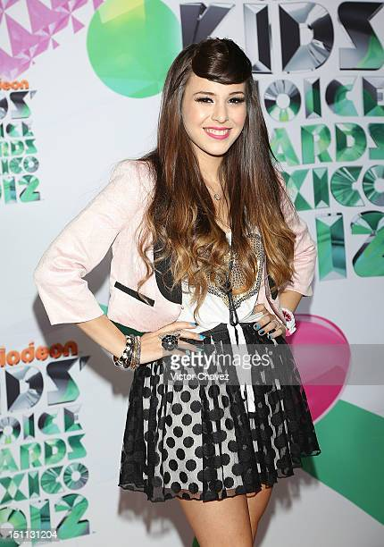 Danna Paola arrives at Kids Choice Awards Mexico 2012 at Pepsi Center WTC on September 1 2012 in Mexico City Mexico