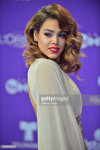 Danna Paola arrives at Telemundo's 2017 'Premios Tu Mundo' at American Airlines Arena on August 24 2017 in Miami Florida