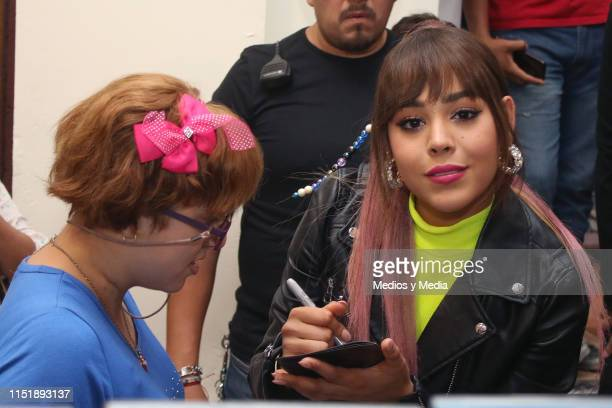 Danna Paola attends an autograph signing at Plaza Loreto on May 26 2019 in Mexico City Mexico
