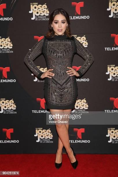 Danna Paola attends the 'Jose Jose El Principe De La Cancion' Telemundo tv series premiere at Four Seasons hotel on January 11 2018 in Mexico City...