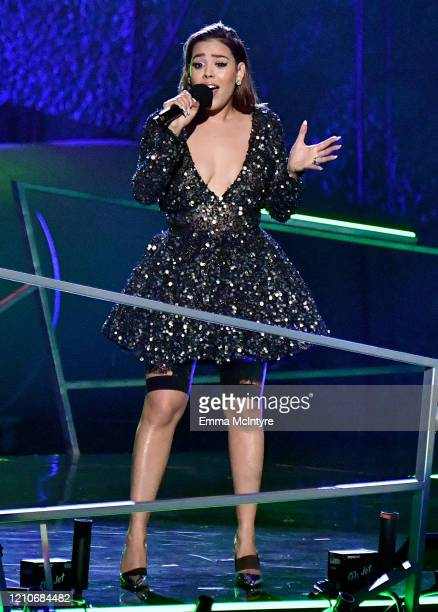 Danna Paola onstage during the 2020 Spotify Awards at the Auditorio Nacional on March 05 2020 in Mexico City Mexico