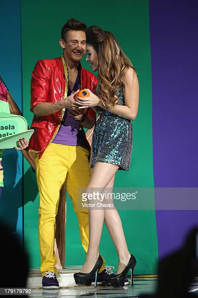Danna Paola onstage during the Kids Choice Awards Mexico 2013 at Pepsi Center WTC on August 31 2013 in Mexico City Mexico