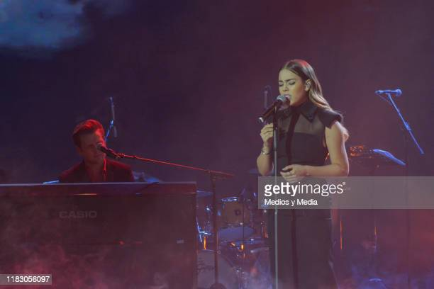 Danna Paola performs on stage during 'La Academia 2019' Presentation at Azteca Novelas on October 23 2019 in Mexico City Mexico