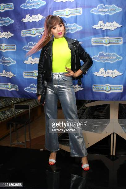 Danna Paola poses for photos during autograph signing at Plaza Loreto on May 26 2019 in Mexico City Mexico