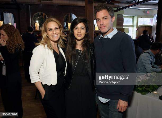 Danna Stern Dana Idisis and Yuval Shafferman attends the 2018 Tribeca Film Festival Directors Brunch at City Winery on April 23 2018 in New York City