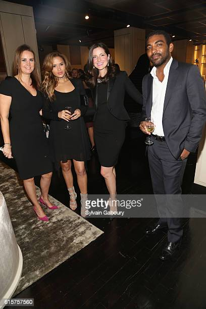 Danna Templeton, Natasha Quiros, Julia Foster and Ian Matalon attend Luxury Living and Elle Decor Celebrate November Luxury Issue at Luxury Living...