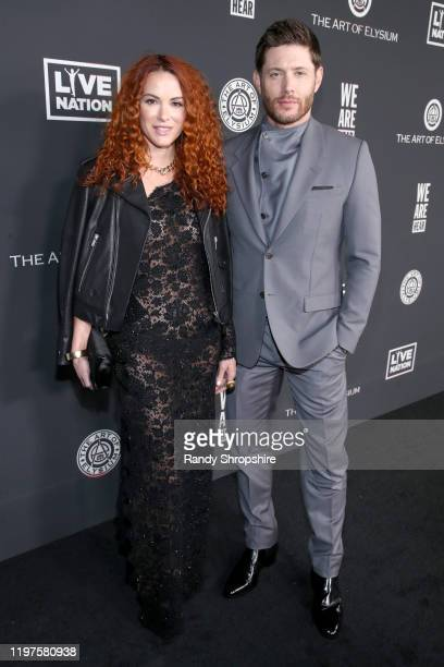 Danneel Ackles and Jensen Ackles attend The Art Of Elysium Presents WE ARE HEAR'S HEAVEN 2020 at Hollywood Palladium on January 04 2020 in Los...