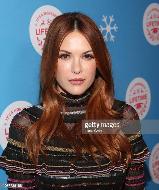 "Danneel Ackles attends the VIP opening night of the lifesized gingerbread house in celebration of ""It's A Wonderful Lifetime at The Grove on November..."