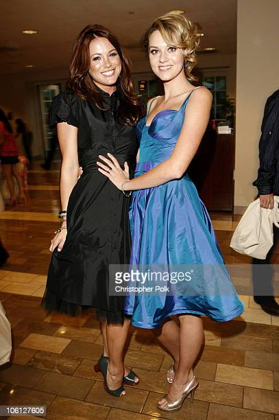 Danneel Harris and Hilarie Burton during CW Launch Party Inside at WB Main Lot in Burbank California United States