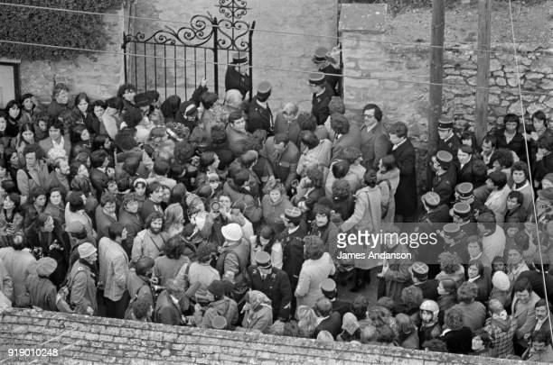 Dannemois Funeral of french singer Claude François 15th March 1978