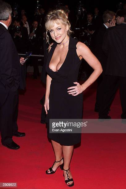 Danni Ashe arrives for the 'Mulholland Drive' film premiere during the 54th Cannes Film Festival in Cannes France Photo by Evan Agostini/Getty Images