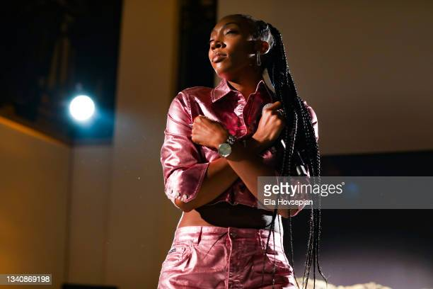 Danni Baylor performs at The One And Only, Dick Gregory, Album Release Event on September 16, 2021 in Burbank, California.
