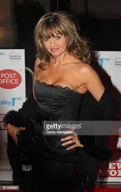 Danniella Westbrook attends the Children's Champions 2010 awards at The Grosvenor House Hotel on March 3 2010 in London England