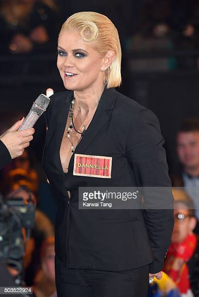 Danniella Westbrook enters the Celebrity Big Brother House at Elstree Studios on January 5 2016 in Borehamwood England