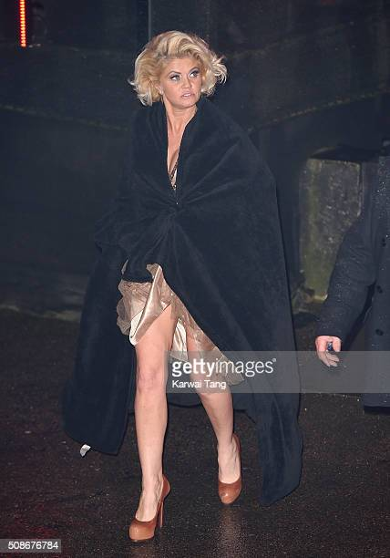 Danniella Westbrook is evicted from the Big Brother house at Elstree Studios on February 5 2016 in Borehamwood England