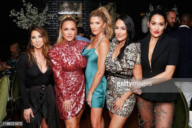 Dannielle Damiani Jayme Golden Shawna Allan Brie Bella and Nikki Bella attend the beauty moguls Nikki and Brie Bella launch of their new product line...