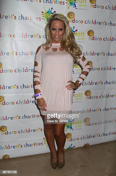 Dannielle Mason attends a special fundraising performance of 'Sunset Boulevard' in aid of the Ndoro Children's Charity at The Mayfair Hotel on April...
