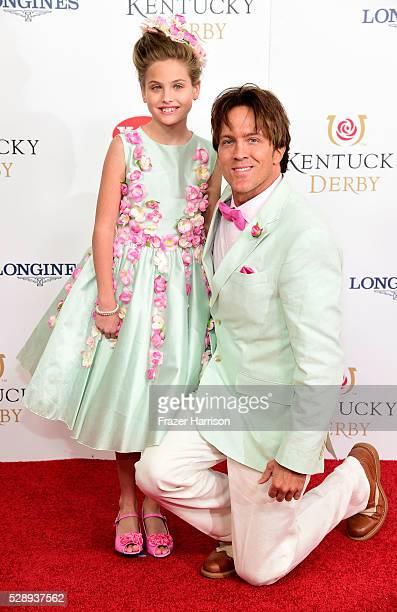 Dannielynn Birkhead and former model Larry Birkhead attend the 142nd Kentucky Derby at Churchill Downs on May 07 2016 in Louisville Kentucky