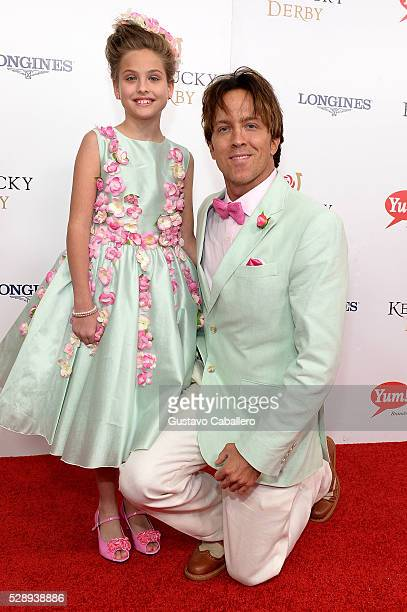 Dannielynn Birkhead and former model Larry Birkhead attend the 142nd Kentucky Derby at Churchill Downs on May 07 2016 in Louisville Kentucky