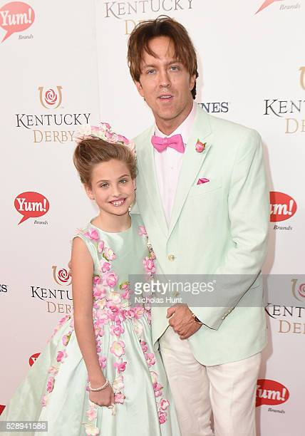 Dannielynn Birkhead and Larry Birkhead arrive at the 142nd Kentucky Derby at Churchill Downs on May 7 2016 in Louisville Kentucky
