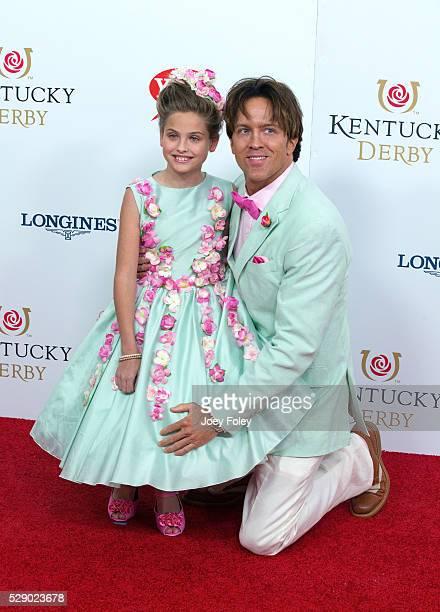 Dannielynn Birkhead and Larry Birkhead attend attends the 142nd Kentucky Derby at Churchill Downs on May 07 2016 in Louisville Kentucky