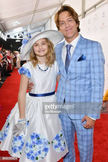 Dannielynn Birkhead and Larry Birkhead attend Kentucky Derby 144 on May 5 2018 in Louisville Kentucky