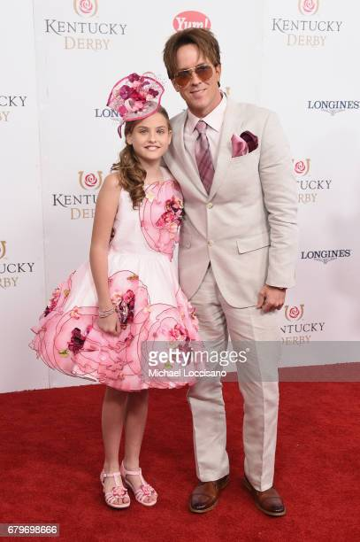 Dannielynn Birkhead and Larry Birkhead attend the 143rd Kentucky Derby at Churchill Downs on May 6 2017 in Louisville Kentucky