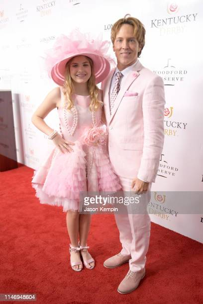 Dannielynn Birkhead and Larry Birkhead attend the 145th Kentucky Derby at Churchill Downs on May 04 2019 in Louisville Kentucky