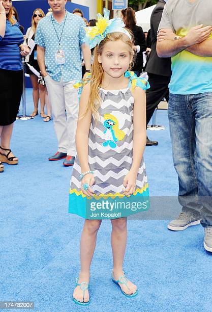 Dannielynn Birkhead arrives at the Los Angeles Premiere Smurfs 2 at Regency Village Theatre on July 28 2013 in Westwood California