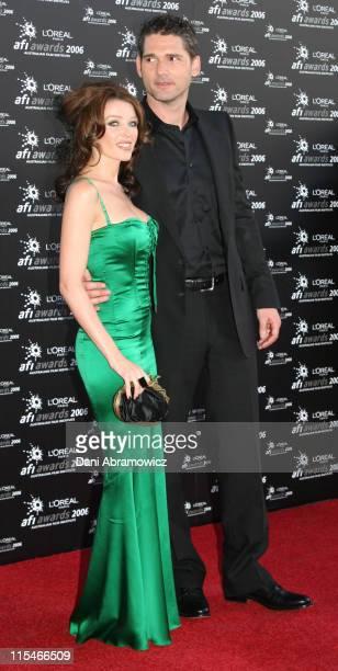 Dannii Minogue and Eric Bana during L'Oreal Paris 2006 AFI Awards Arrivals at Melbourne Exhibition Centre in Melbourne VIC Australia