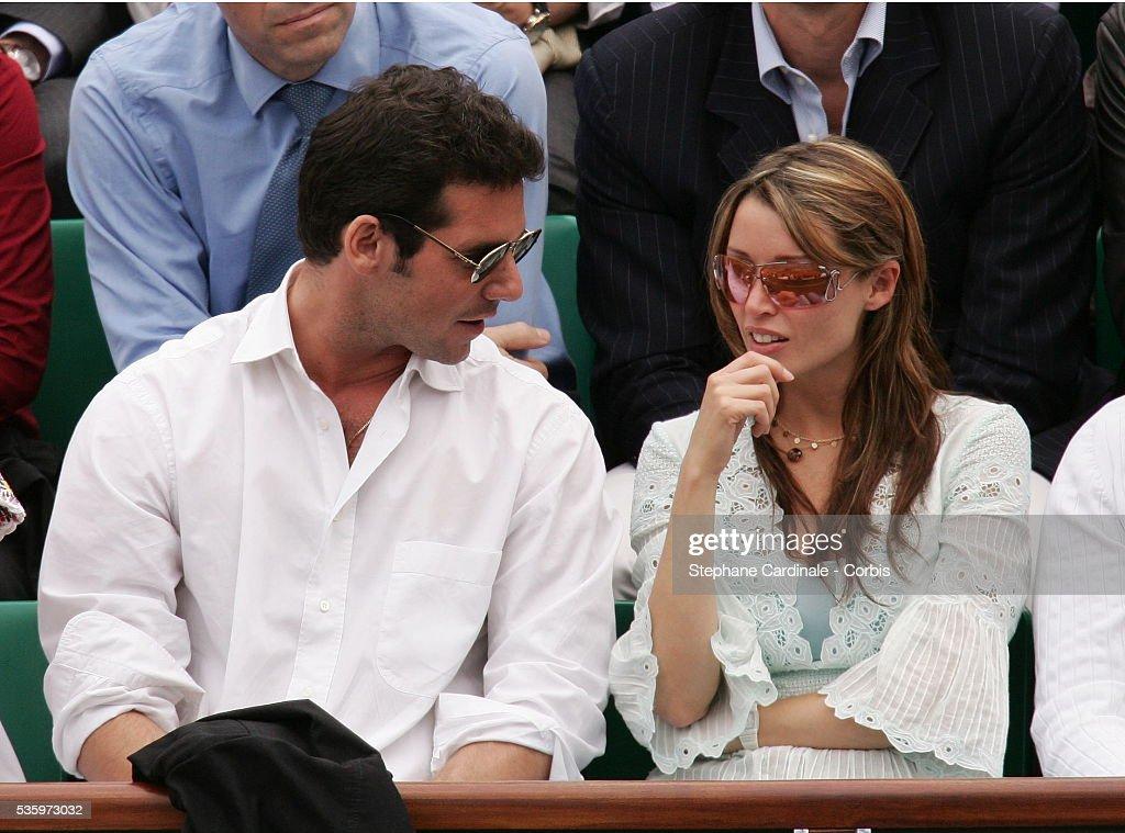Dannii Minogue and her boyfriend Jeremy visit Roland Garros Village during the 2005 French Open tennis.