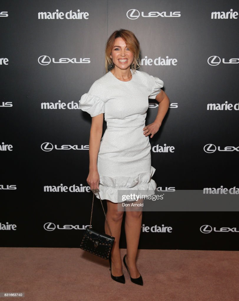 Dannii Minogue arrives ahead of the 2017 Prix de Marie Claire Awards on August 15, 2017 in Sydney, Australia.