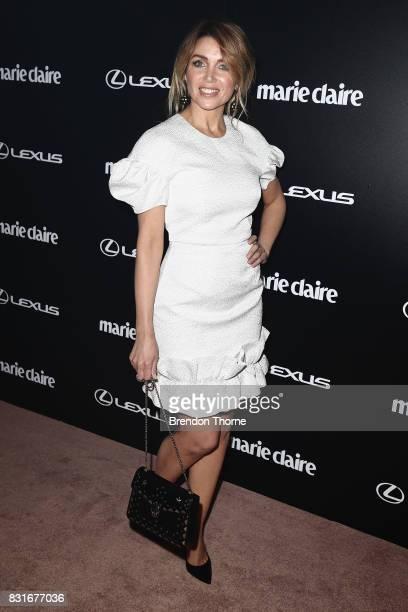 Dannii Minogue arrives ahead of the 2017 Prix de Marie Claire Awards on August 15 2017 in Sydney Australia