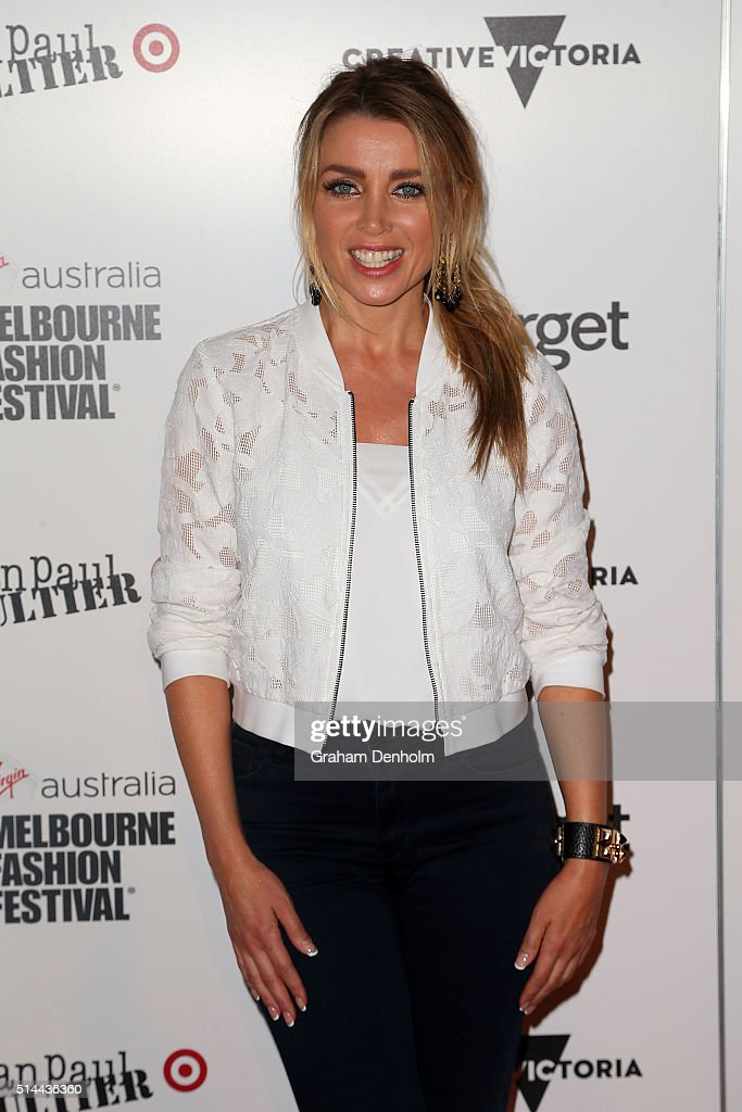 Dannii Minogue arrives ahead of the Jean Paul Gaultier x Target Launch during Melbourne Fashion Festival on March 9, 2016 in Melbourne, Australia.