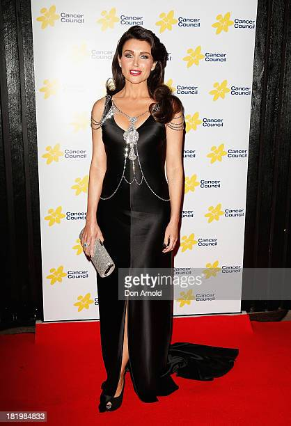 Dannii Minogue arrives at the 2013 Emeralds Ivy Ball at Daltone House Pyrmont on September 27 2013 in Sydney Australia This annual black tie gala...
