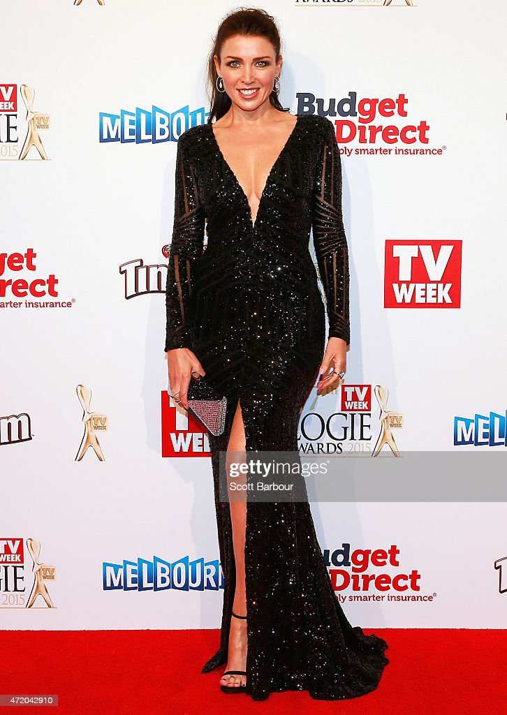 Dannii Minogue arrives at the 57th Annual Logie Awards at Crown Palladium on May 3, 2015 in Melbourne, Australia.