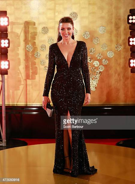 Dannii Minogue arrives at the 57th Annual Logie Awards at Crown Palladium on May 3 2015 in Melbourne Australia