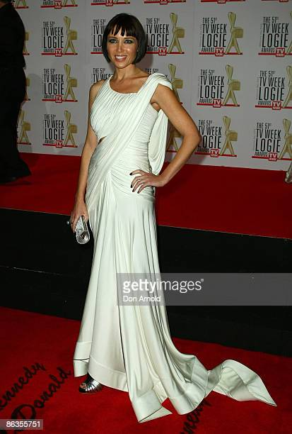 Dannii Minogue arrives for the 51st TV Week Logie Awards at the Crown Towers Hotel and Casino on May 3 2009 in Melbourne Australia