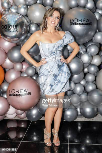 Dannii Minogue attends the 2018 L'Oreal Colour Trophy Awards on February 4 2018 in Melbourne Australia