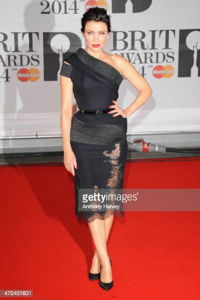 Dannii Minogue attends The BRIT Awards 2014 at 02 Arena on February 19 2014 in London England