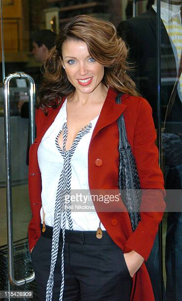 Dannii Minogue during Dannii Minogue Arrives For a Vogue Shoot at Urban Outfitters April 7 2006 at Urban Outfitters Kensington High Street in London...