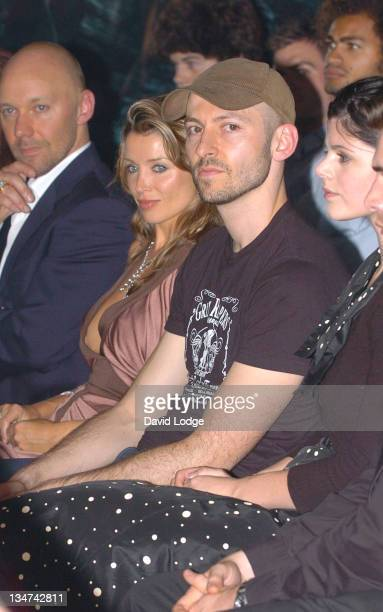 Dannii Minogue during London Fashion Week Spring/Summer 2006 BodyAMR Runway and Front Row at Annex 3 Little Portland Street in London Great Britain